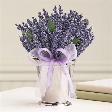 Lavender Table Arrangement Nice To Have A Pot Like This