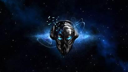 Skull Headphones Space