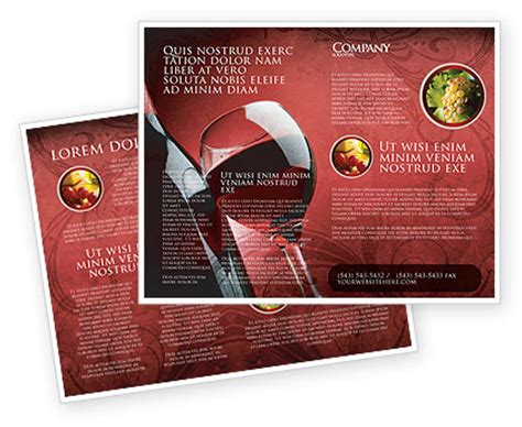 Wine Brochure Template Free by Wine Glass Brochure Template Design And Layout