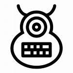 Monster Icon Evil Shape Cyclops Alien Outline