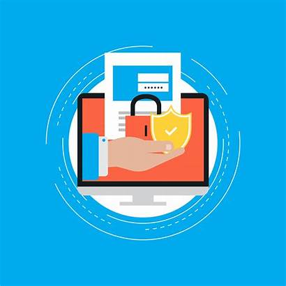Account Login Illustration Secure Vector Portal Clipart