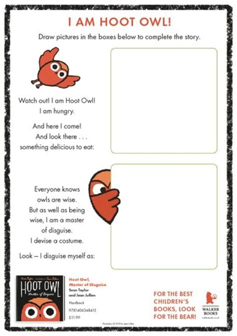 hoot owl draw your own illustrations free teaching