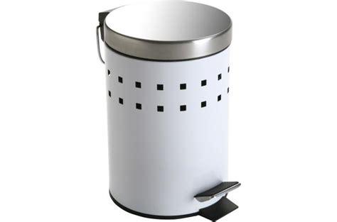 poubelle de cuisine blanche poubelle à papier blanche en acier sherman poubelle