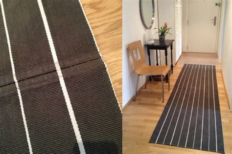 hall  stripes  hallway runner rug diy ikea hackers