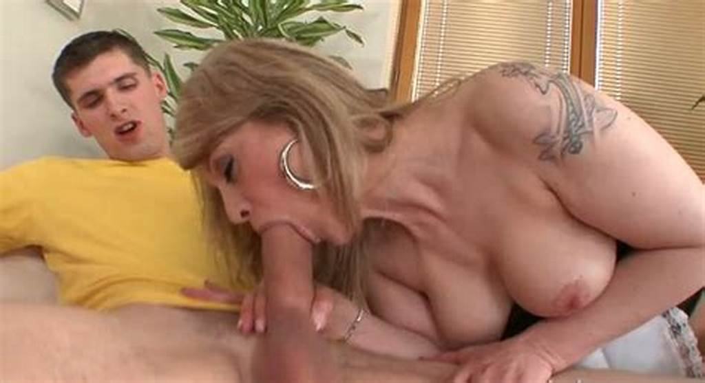 #Beautiful #Blond #Milf #Gives #Great #Blowjob #To #Young #Man