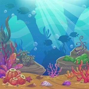 Cartoon Underwater Vector Illustration by Lilu330 ...