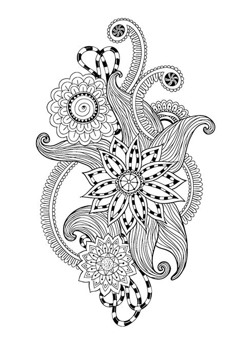 zen  anti stress coloring pages  adults coloring