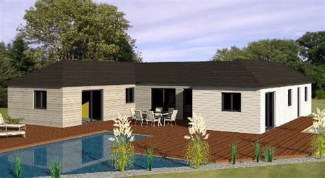 modele de maison plain pied moderne modele maison elodie becokit maisons ossature bois