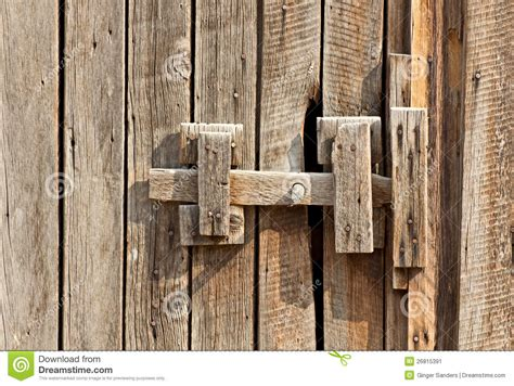 vintage wooden latch  building stock image image