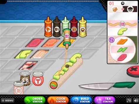 papa louie cuisine play papa 39 s sushiria for free at pomu com