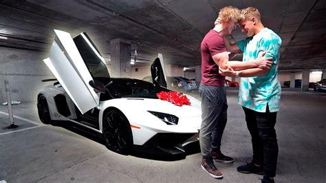 lamborghini jake paul i bought my brother his dream car lamborghini aventador