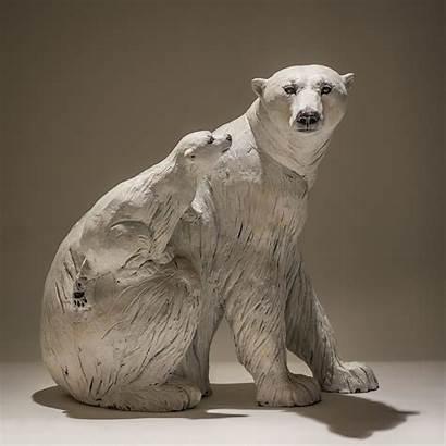 Polar Bear Cub Nick Mackman Ceramic Artists