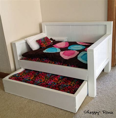 ana white american girl doll trundle day bed diy projects