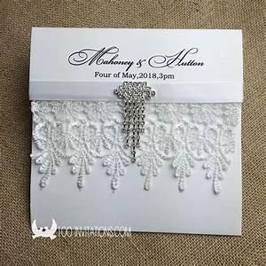creative elegant pocket fold wedding invitations a set With elegant wedding invitations with rhinestones and lace