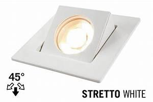 Led recessed lighting trim stretto gu fixture white