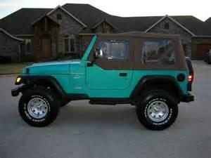 Teal Jeep Wrangler