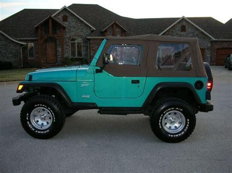 aqua jeep wrangler beautiful 1994 teal wrangler i just love teal with black