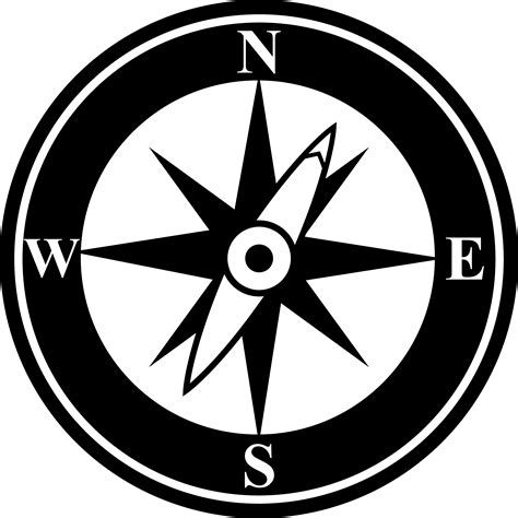 compass black and white compass clip free clipart panda free clipart images