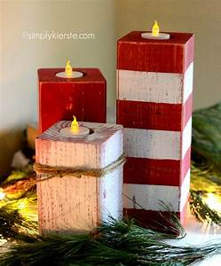 peppermint striped candlesticks simplykierstecom With kitchen colors with white cabinets with christmas candle holder craft