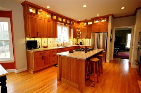arts and crafts kitchen cabinets cherry hill cabinetry arts crafts kitchen a cherry 7513