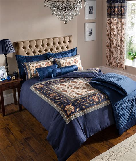 navy blue duvet cover bedding bed set or curtains or