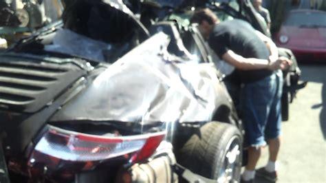 porsche   carrera  wreck accident destroyed youtube