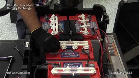 how to replace club car precedent batteries electric golf cart youtube