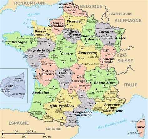 France Regions Map  Recana Masana