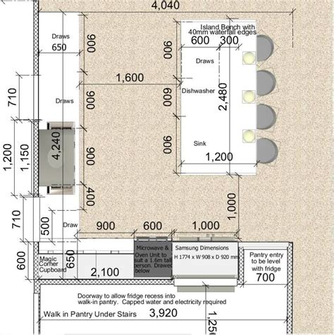 kitchen island width view topic kitchen draw depths whats the norm home renovation building forum