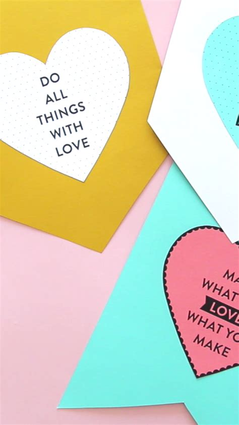 How To Make Cute Heart Banners DIY Inspiration