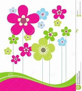 Pink And Green Flower Clipart - ClipartXtras