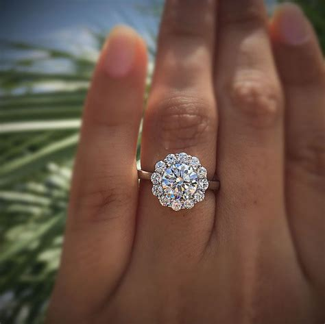 tacori engagement rings bloom halo setting 69ctw in 2019 engagement rings engagement