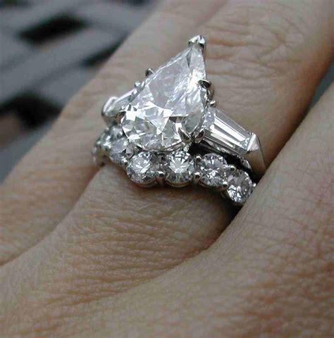 3 carat pear shaped engagement rings wedding and bridal