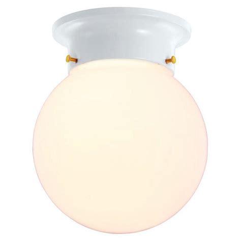 hton bay 1 light white globe flushmount jo204h the