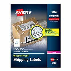 avery weatherproof mailing labels with trueblock With avery 5526 labels