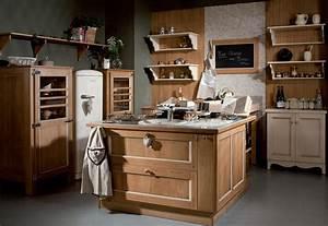 Cuisine équipée Bois : cuisine quip e classique cuisines traditionnelles ~ Premium-room.com Idées de Décoration