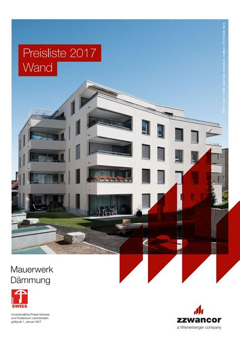 wienerberger preisliste 2017 preisliste wand 2017 mauerwerk d 228 mmung pdf by wienerberger ag issuu