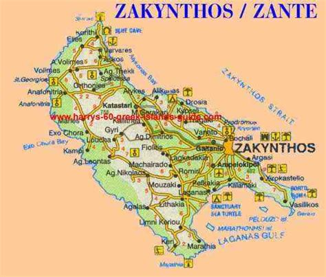 map synopsis greek island  zakynthos ionian