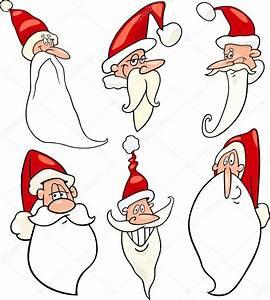 Weihnachtsmann Als Profilbild : lustige weihnachtsmann cartoon gesichter icons set ~ Haus.voiturepedia.club Haus und Dekorationen