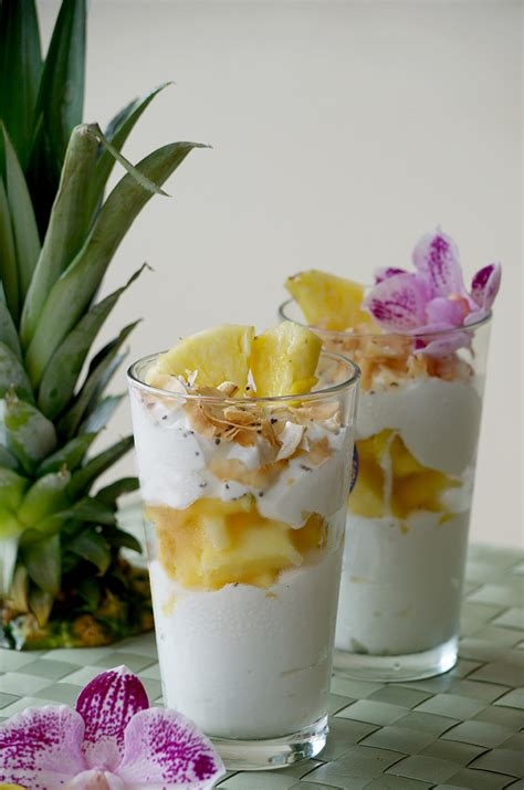 hawaiian pineapple coconut parfait obsessive cooking