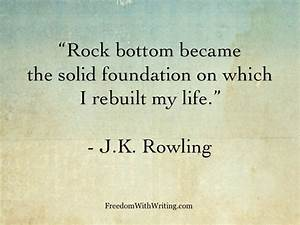 Five Writing Qu... Rock Foundation Quotes