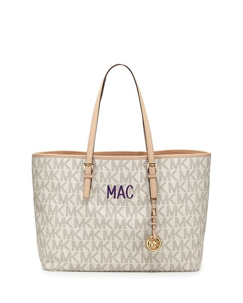 michael michael kors medium jet set multifunction logo
