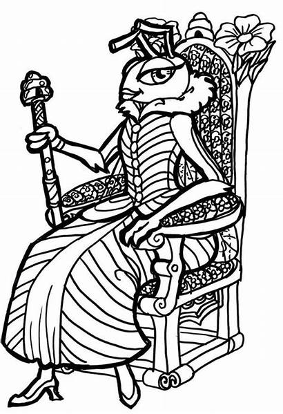 Queen Coloring Pages Ant Bee Medieval Princess