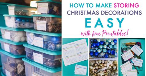 storing christmas decorations easy