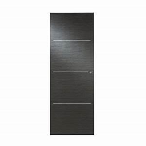 Porte Interieur Grise : porte coulissante seule triaconta grise castorama ~ Mglfilm.com Idées de Décoration