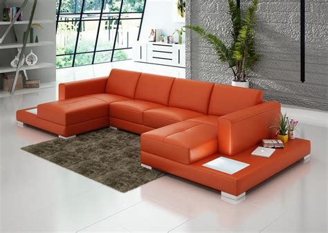 double chaise sectional sofa double chaise sectional sofa with built in end tables made
