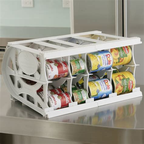 kitchen can storage rack adjustable can organizer 40 can in can storage 6498