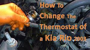 Service Manual  How To Replace Thermostat On A 2003 Kia