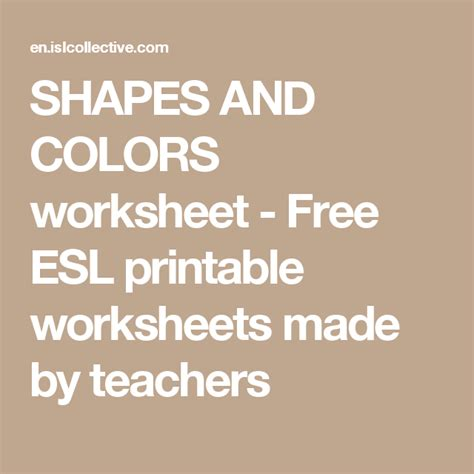 shapes  colors  images printable worksheets