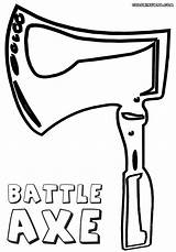 Axe Coloring Pages Coloringway sketch template
